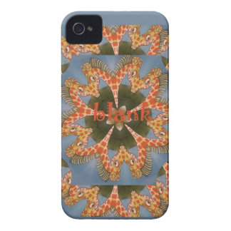 Beautiful amazing African colorful Giraffe blank Case-Mate iPhone 4 Cases