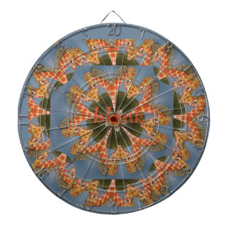 Beautiful amazing African colorful Giraffe blank Dartboard With Darts