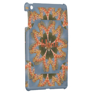 Beautiful amazing African colorful Giraffe blank iPad Mini Cases
