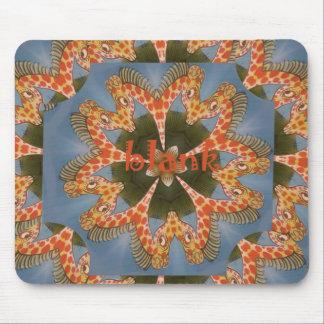 Beautiful amazing African colorful Giraffe blank Mouse Pad