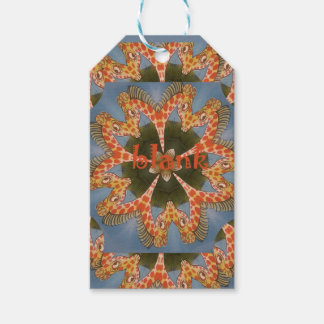 Beautiful amazing African colorful Giraffe blank Pack Of Gift Tags