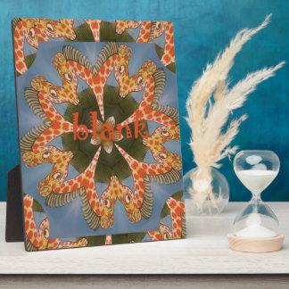Beautiful amazing African colorful Giraffe blank Plaque