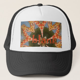 Beautiful amazing African colorful Giraffe blank Trucker Hat