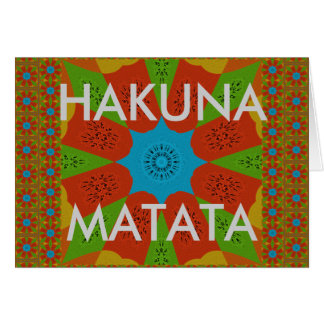 Beautiful Amazing African Feminine Design Colors. Card