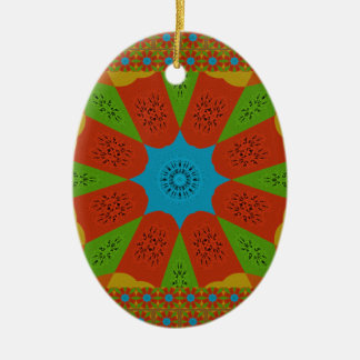 Beautiful Amazing African Feminine Design Colors. Ceramic Oval Ornament