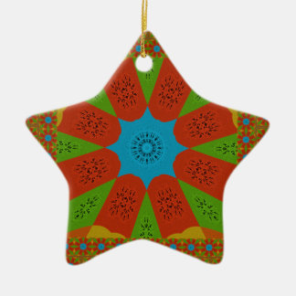 Beautiful Amazing African Feminine Design Colors. Ceramic Star Ornament