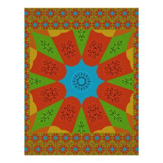Beautiful Amazing African Feminine Design Colors. Letterhead