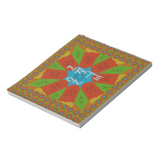 Beautiful Amazing African Feminine Design Colors. Notepad