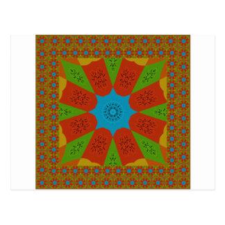 Beautiful Amazing African Feminine Design Colors. Postcard