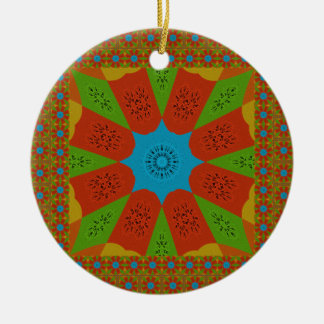 Beautiful Amazing African Feminine Design Colors. Round Ceramic Ornament