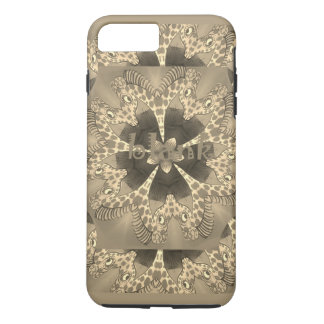 Beautiful amazing African Giraffe blank text iPhone 8 Plus/7 Plus Case