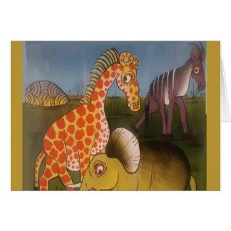 Beautiful Amazing African wild animal safari color Card