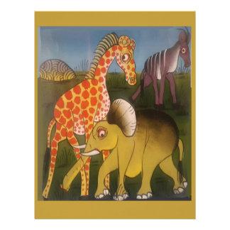 Beautiful Amazing African wild animal safari color Personalized Letterhead