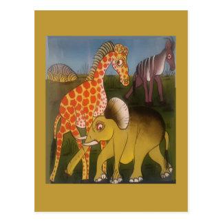 Beautiful Amazing African wild animal safari color Postcard