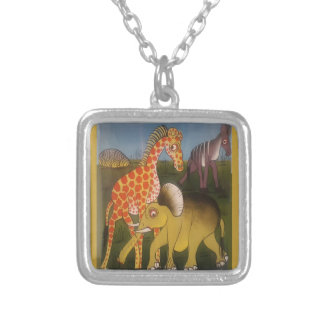 Beautiful Amazing African wild animal safari color Silver Plated Necklace