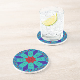 Beautiful Amazing Egyptian  Feminine Design Color Beverage Coaster