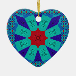 Beautiful Amazing Egyptian  Feminine Design Color Ceramic Heart Ornament