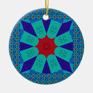 Beautiful Amazing Egyptian  Feminine Design Color Round Ceramic Ornament