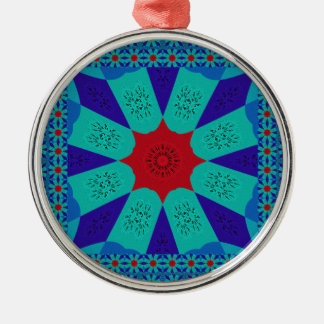 Beautiful Amazing Egyptian  Feminine Design Color Silver-Colored Round Ornament