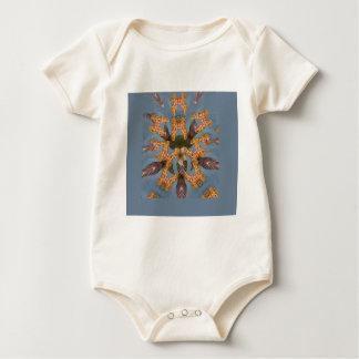 Beautiful amazing Funny African Giraffe pattern de Baby Bodysuit