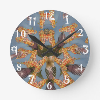 Beautiful amazing Funny African Giraffe pattern de Clocks