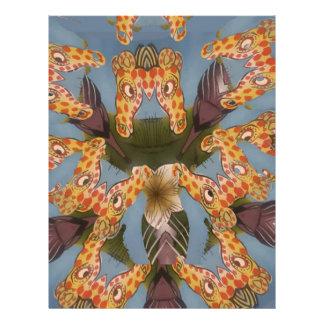 Beautiful amazing Funny African Giraffe pattern de Letterhead
