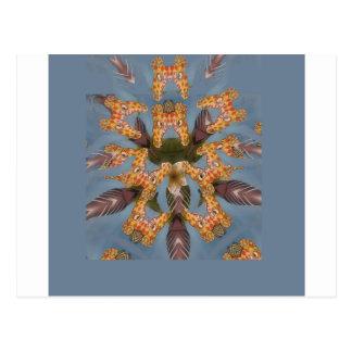 Beautiful amazing Funny African Giraffe pattern de Postcard