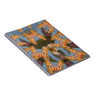 Beautiful amazing Funny African Giraffe pattern de Spiral Notebook