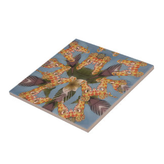 Beautiful amazing Funny African Giraffe pattern de Tile