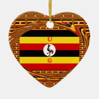 Beautiful amazing Hakuna Matata Lovely Uganda Colo Ceramic Heart Ornament