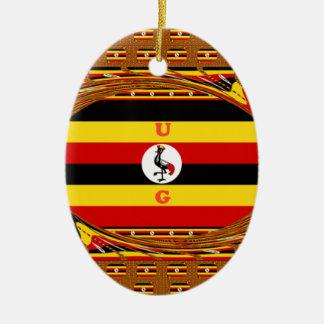 Beautiful amazing Hakuna Matata Lovely Uganda Colo Ceramic Ornament