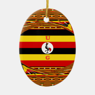 Beautiful amazing Hakuna Matata Lovely Uganda Colo Ceramic Oval Ornament