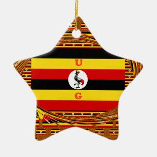 Beautiful amazing Hakuna Matata Lovely Uganda Colo Ceramic Star Ornament