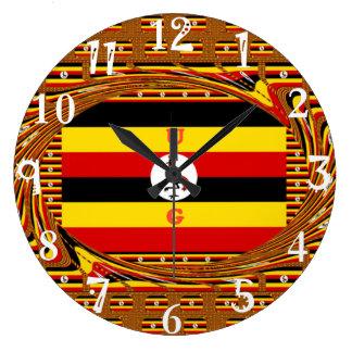 Beautiful amazing Hakuna Matata Lovely Uganda Colo Large Clock