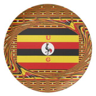 Beautiful amazing Hakuna Matata Lovely Uganda Colo Plate