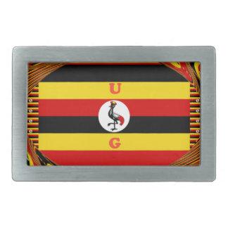 Beautiful amazing Hakuna Matata Lovely Uganda Colo Rectangular Belt Buckle