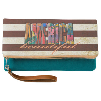 Beautiful America Clutch