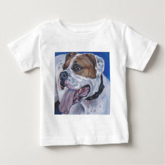 Beautiful american bulldog dog painting baby T-Shirt