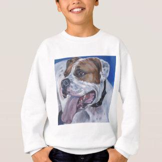 Beautiful american bulldog dog painting sweatshirt