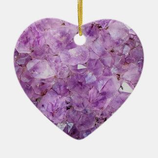 Beautiful amethyst crystals ceramic ornament