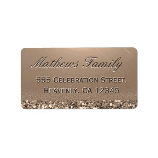 Beautiful and Elegant Gold Glitter Label
