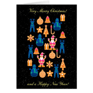 Beautiful and funny Colorful  Gingerbread Card