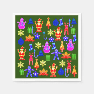 Beautiful and funny Colorful Gingerbread Napkin Paper Napkin