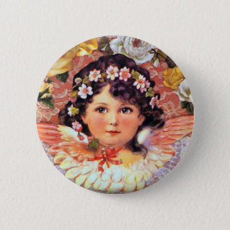 Beautiful Angel Child 2 Inch Round Button