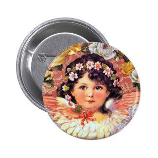 Beautiful Angel Child 2 Inch Round Button