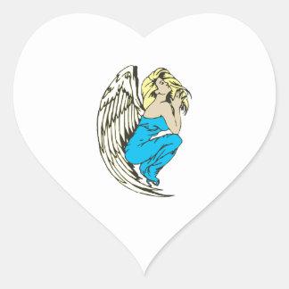 BEAUTIFUL ANGEL HEART STICKERS