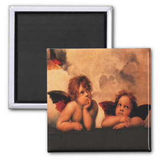 Beautiful Angelic Cherubs Square Magnet