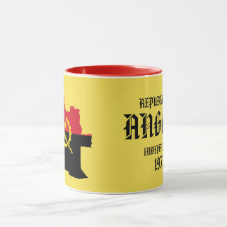Beautiful Angola Map Flag Mug
