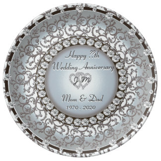 Beautiful Anniversary Gift Plate