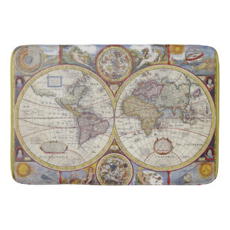 Beautiful Antique and Vintage old world Map Bathroom Mat